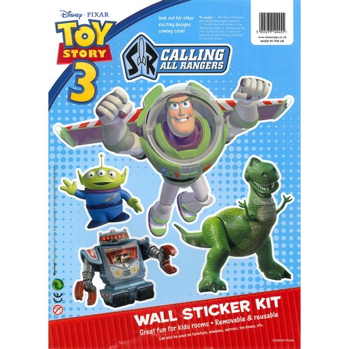 Toy Story 3d Wall Light : Disney Pixar Toy Story 3: Buzz Lightyear Wheelie Bin/ Wall Sticker Kit eBay